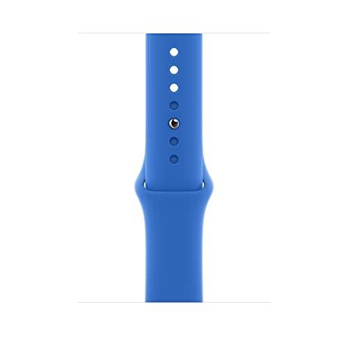 Apple Watch (44mm) Sportarmband, Capriblau - Regular
