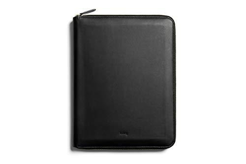 Bellroy Work Folio A4, Premium Leder Kompendium Portfolio (A4 Notizbuch, Stifte, Tech, Kabel, Büromaterialien) - Black