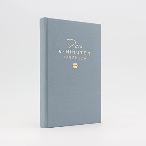 Das 6-Minuten Tagebuch PUR   Dankbarkeitstagebuch, Anti-Stress Tagebuch   Täglich 6 Minuten für deine Persönlichkeitsentwicklung, mehr Selbstliebe & Achtsamkeit (aquarellblau)