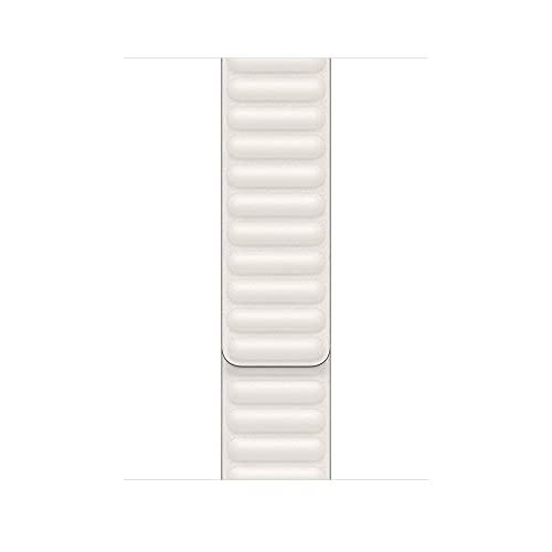 Apple Watch (44mm) Lederarmband mit Endstück, Kreide - Small/Medium