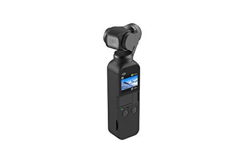 DJI Osmo Pocket, 3-Achsen Gimbal-Bildstabilisierung (1/2.3 Zoll Sensor mit 80° Sichtfeld und F2.0 Blende, Videoaufnahmen mit bis zu 4K Ultra HD bei 60 fps und 100 Mbit/s)