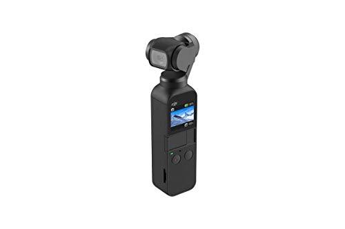 DJI Osmo Pocket - 3-Achsen Gimbal Stabilisator (Stabilizer mit integrierter Kamera, Verwendbar mit Smartphone, Android)