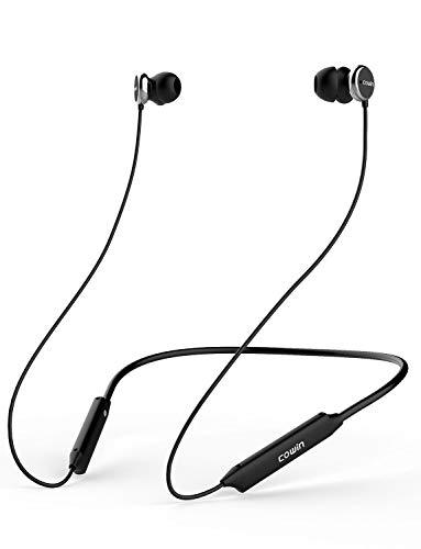 Cowin HE5A Active Noise Cancelling Kopfhörer Bluetooth In Ear Kopfhörer Wireless Kopfhörer, reicher Bass HiFi Stereo Kopfhörer mit Mic, Bluetooth 4.2 Sport Headset 8 Stunden Spielzeit - Schwarz