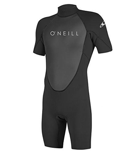 O'Neill Wetsuits Men's Reactor-2 2mm Back Zip Spring Wetsuit, Black/Black, L