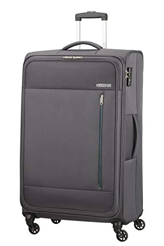 American Tourister Heat Wave - Spinner XL Koffer, 80 cm, 92 L, Grau (Charcoal Grey)