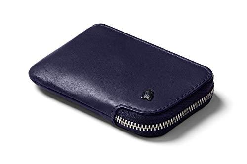 Bellroy Leather Card Pocket Wallet, schlanke Geldbörse mit Reißverschluss (Max. 15 Karten, Fach für Geldscheine und Münzen) - Navy