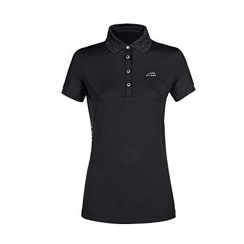 Equiline Damen Poloshirt, Polo Shirt, Damenshirt EQ_GLORYG Farbe schwarz, Größe L