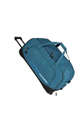 travelite Trolley Reisetasche Größe XL, Gepäck Serie KICK OFF: Praktische Reisetasche mit Rollen für Urlaub und Sport, 006911-22, 77 cm, 120 Liter, petrol (türkis)