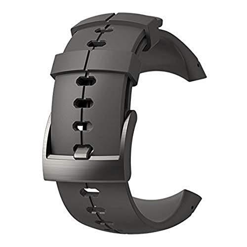 Suunto, Original Ersatz-Uhrenarmband für alle Suunto Sparten Ultra Uhren, Silikon, Länge: 24,5 cm, Stegbreite: 25 mm, Anthrazit, Inkl. Stifte zur Montage, SS022688000