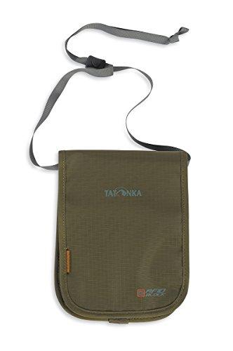 Tatonka Brustbeutel Hang Loose RFID B - Geldbeutel zum Umhängen mit RFID Blockierung - TÜV geprüft - Bietet Platz für mindestens zwei (EU) Reisepässe - Schützt vor Datenklau - 20 x 14 x 2 cm - Oliv