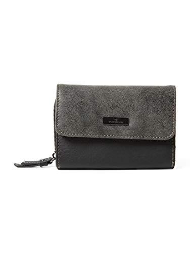 TOM TAILOR für Frauen Taschen & Geldbörsen Überschlagbörse Elin schwarz/black, OneSize