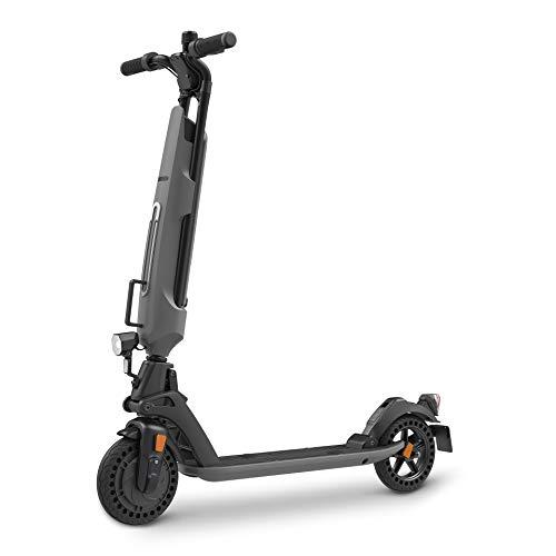 Inomile patentierte Sicherheitsstruktur Elektroroller 350 W, Last 120 kg, Faltbarer E-Scooter mit Deutscher Straßenzulassung (ABE) aus Luftfahrtaluminium (Grey)