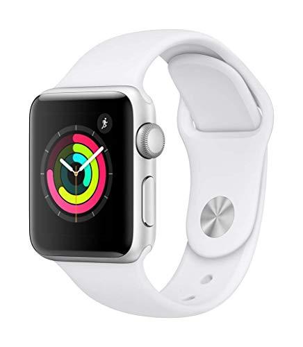 Apple Watch Seires 3 38mm (GPS) - Aluminiumgehäuse Silber Weiß Sportarmband (Generalüberholt)