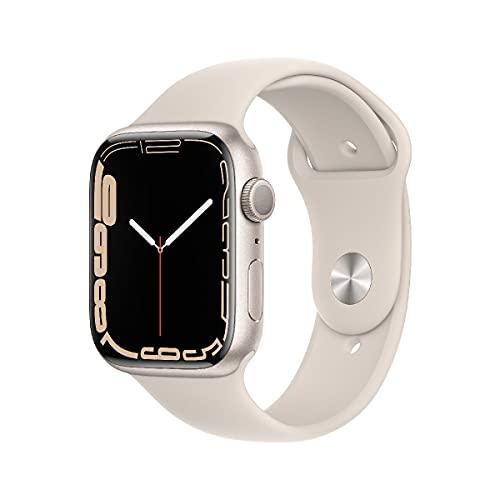 AppleWatch Series7 (GPS, 45mm) - Aluminiumgehäuse Sternenlicht, Sportarmband Sternenlicht - Regular
