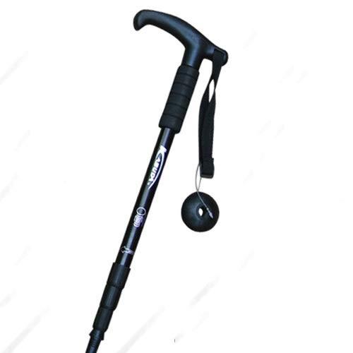 FWDS T-Griff gerader Griff Trekkingstock Teleskop-Kletterstock Wandern Kletterstock tragbarer Spazierstock Reiseausrüstung für den Außenbereich 4-teilige Stocklänge