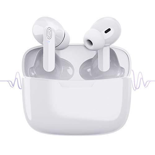 Bluetooth-Kopfhörer, Wireless 5.1 Bluetooth IPX6 wasserdichte Ohrhörer 3D-Surround-Sound-Kopfhörer Sportkopfhörer Integriertes Mikrofon In-Ear-Kopfhörer für Apple Airpods IOS Android