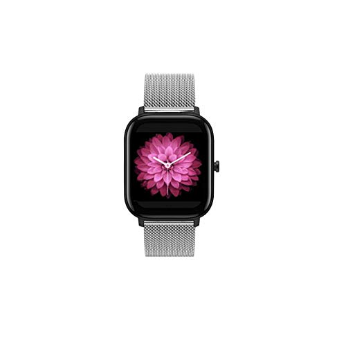 ID205L Smartwatch-Bänder, Edelstahl-Mesh-Uhrenarmbänder, 19 mm, verstellbar, für ID205L Sportuhr, ID205G ID205 ID205U ID205S Ersatz-Zubehörband