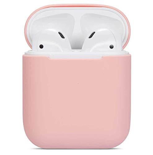 Generisch Hülle Kompatibel mit AirPods 2/1, Slim Silikon hülle Case AirPods Zubehör Schutzhülle Robustes aus Silikon und Skin für AirPods 2/1 Ladekoffer (Pink)