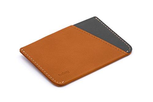 Bellroy Herren Leder Geldbörse Micro Sleeve, Farbe: Caramel