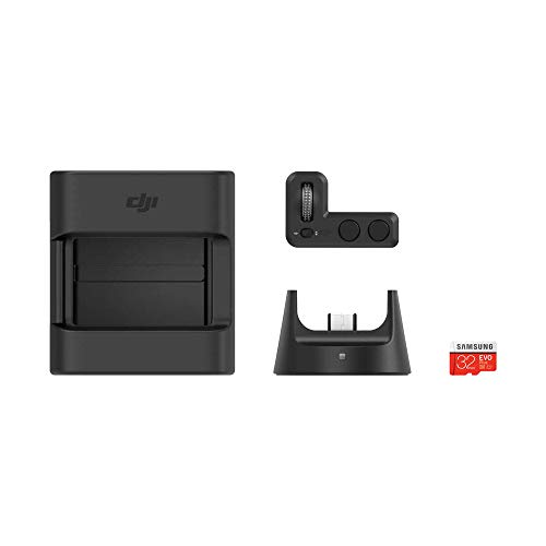 DJI Zubehörset für Osmo Pocket - Enthält 1 Fernbedienung, 1 Funkmodul, 1 Zubehörhalterung, 1 Samsung microSD-Karte mit 32 GB - 4 Zubehörteile - Schwarz