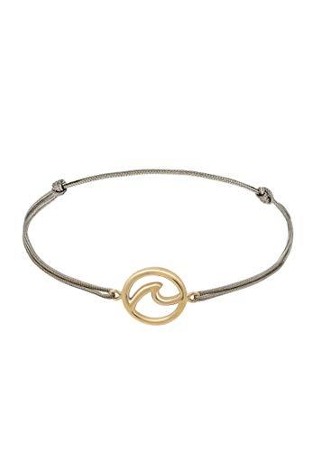 Elli Armband Damen Welle Strand Maritim Nylon Blau Trend in 925 Sterling Silber
