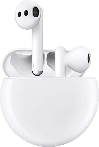 HUAWEI FreeBuds 3 kabellose Kopfhörer mit Active Noise Canceling (Ultra schnelle Bluetooth-Verbindung, 14mm Lautsprecher,kabelgebundenes Ladecase), Weiß