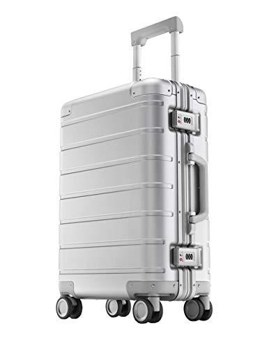 Xiaomi Mi Metal Carry-on Luggage 20' (31 Liter) Hartschalen Trolley Koffer Rollkoffer aus hochwertiger Aluminium/Magnesium Legierung mit 4 Rollen und zweifachem TSA-Zahlenschloss