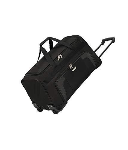 Travelite 2-Rad Trolley Reisetasche, Gepäck Serie ORLANDO: Klassische Weichgepäck Reisetasche mit Rollen im zeitlosen Design, 098481-01, 73 Liter, 2,7 kg, schwarz