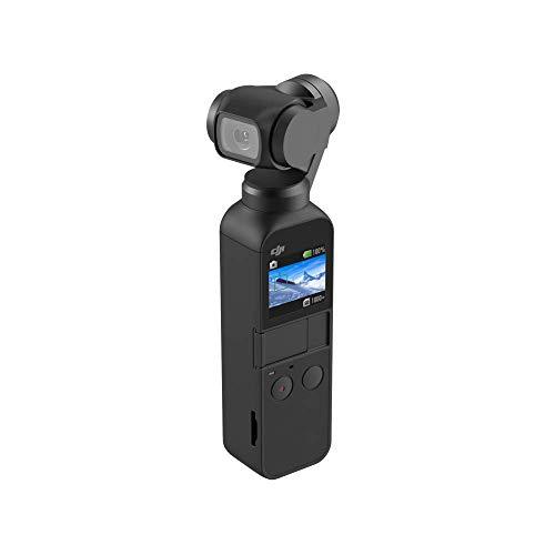 DJI Osmo Pocket Version 2 - 3-Achsen Gimbal Stabilisator Stabilizer mit integrierter Kamera, Verwendbar mit Smartphone, Android, iPhone