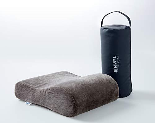 TEMPUR Reisekissen Memory Foam, ergonomisches Reise-Nackenkissen inkl. Tragetasche, Anthrazit, Größe 25 x 31 x 10/7 cm