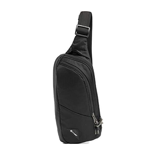 Pacsafe Unisex-Erwachsene Vibe 150 Anti Theft Jet Black Umhängetasche, 2.2 Liter
