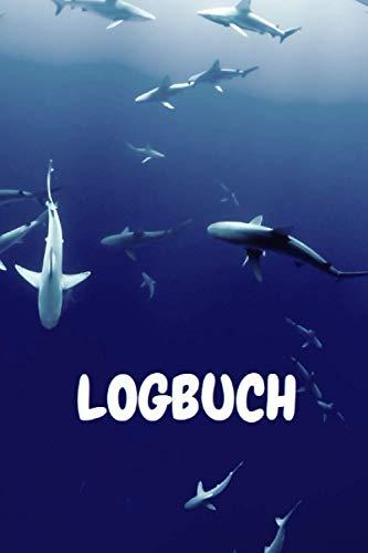 Premium Taucher Logbuch für Taucher Dive Log: Tauchbuch Gerätetauchen Scuba Diving Nitrox Tauchausrüstung Platz für 220 Tauchgänge Tauchausbildung Brevet (6x9') Haie Unterwasser Schnorcheln