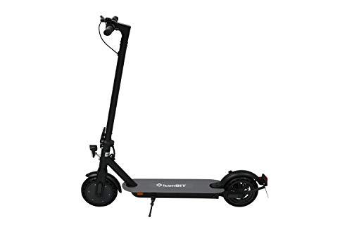 IconBIT KICK SCOOTER CITY - Straßenzugelasser Scooter (StVZO) mit einfachem Faltmechanismus für den Alltag in einer Großstadt, schwarz