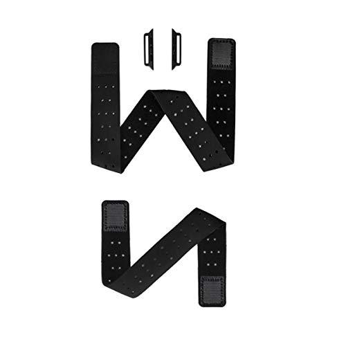 Euler Black Elastic Sport Loop Armband und Armband 2 Uhrenarmbänder Begleiter Kompatibel mit Apple Watch Band für iWatch Series 6 SE 5 4 3 (42/44mm)