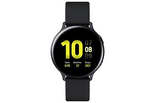 Samsung Galaxy Watch Active2, Fitnesstracker aus Aluminium, großes Display, ausdauernder Akku, wassergeschützt, 44 mm, Bluetooth, Schwarz