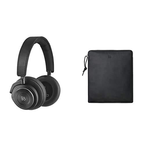 Bang & Olufsen Beoplay H9 3. Generation Kabelloser Bluetooth Over-Ear-Kopfhörer (Amazon Exklusive Edition), Matte Black + Leder-Schutzhülle
