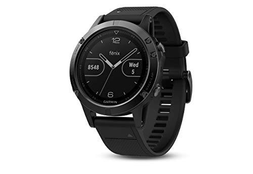 Garmin fēnix 5 GPS-Multisport-Smartwatch, Herren, Herzfrequenzmessung am Handgelenk, Sport- und Navigationsfunktionen, grau/schwarz (Generalüberholt)
