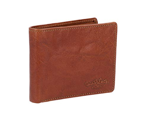 Gusti Geldbörse Leder - Easton Reise-Portemonnaie Brieftasche Braun Leder