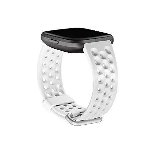 Sport-Zubehörarmband für Fitbit Versa 2 Frostweiß, Groß