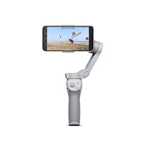 DJI OM 4 - Stabilisator, 3-Achsen-Gimbal für Smartphones, Magnetisches Design, Tragbar und Faltbar, DynamicZoom, CloneMe, Zeitraffer, Gestensteuerung, Spin-Modus, Story-Modus, Zeitlupe, Panorama