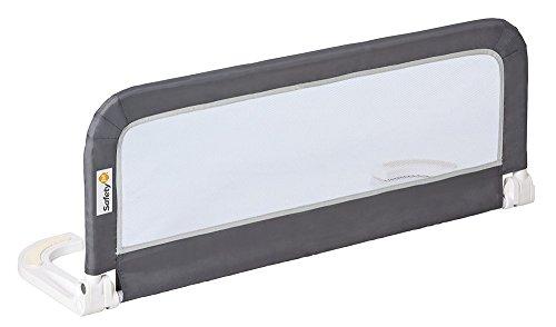 Safety 1st tragbares Bettgitter für Sicherheit beim Schlafen verhindert das Herausfallen aus dem Bett ideal für die Reise und kompakt zusammenfaltbar (nutzbar ab 1,5 Jahren bis max. 22 kg), grau