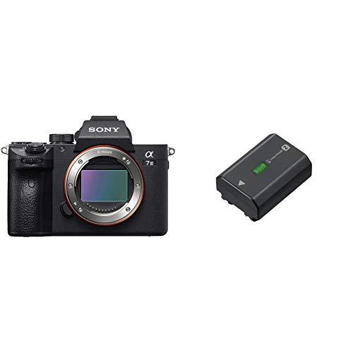 Sony Alpha 7 III | Spiegellose Vollformat-Kamera (Schneller 0,02s AF, optische 5-Achsen-Bildstabilisierung im Gehäuse) & NP-FZ100 Akku (InfoLITHIUM-Akku Z-Serie, 7,2V/16,4Wh (2280 mAh)) schwarz