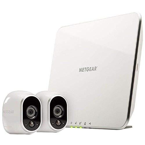 Arlo HD Smart Home 2 HD-Überwachungskameras und Sicherheitssystem (100% kabellos, Innen/Außen, WLAN, Bewegungsmelder, Nachtsicht) weiß, VMS3230
