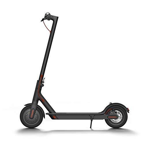 Mi Elektro Scooter, mit 30 km Reichweite, Luftfahrtaluminium, bis zu 100kg Belastbar, Vorder und Rücklicht, Klingel, 2 Fach Bremssysstem, Schwarz