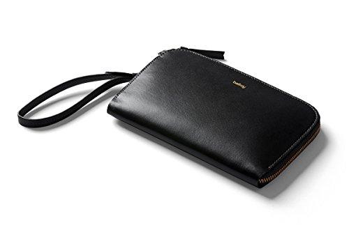 Bellroy Clutch. Damen Leder Tasche Handtasche oder Geldbörse (für 9+ Karten, Bargeld, Smartphone, kleine persönliche Dinge)-Black