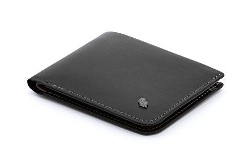 Bellroy Hide & Seek Slim Leder Geldbörse (max. 12 Karten und Bargeld), Schwarz – RFID, Einheitsgröße, Minimalistisch