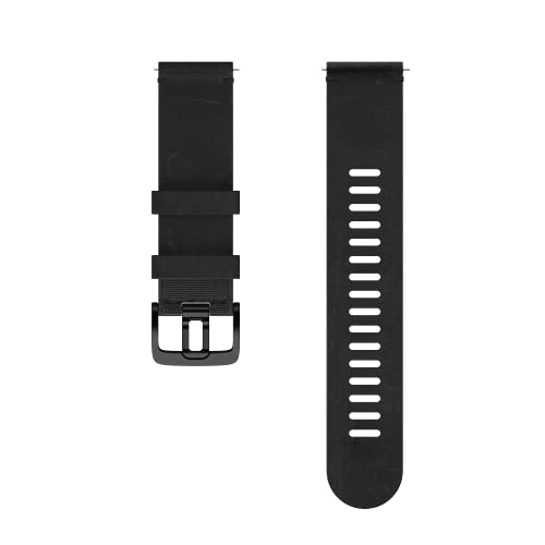 Polar Unisex– Erwachsene Lederarmband, 22mm Armband für Sportuhr, Schwarz, M/L