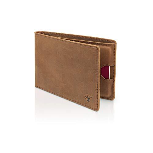 ETAVI ® Reisepasshülle Belize Leder [RFID - Schutz] Travel Wallet für Reisepaesse [Reisepassetui für Reisezubehör] Passport Hülle Reisemappe Herren