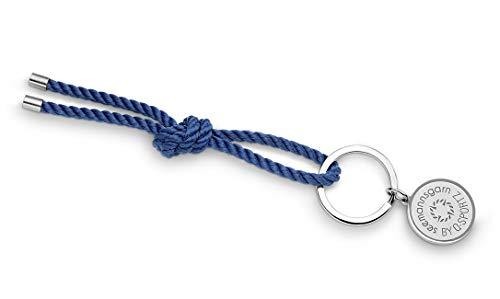 Maritimes Seemannsgarn Segeltau Schlüsselkette Amrum navy-blau 4mm