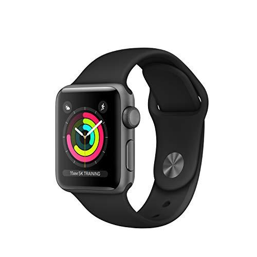 Apple Watch Series 3 (GPS, 38mm) Aluminiumgehäuse Space Grau - Sportarmband Schwarz